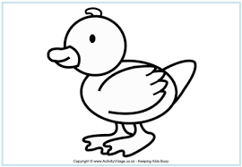 Small Picture Duck Colouring Page
