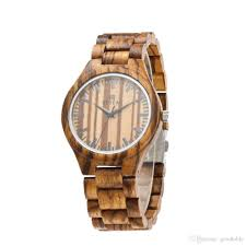zebra wood watch genuine leather watch hot style source wooden watch chronograph watches designer watches from goodtable 27 42 dhgate com
