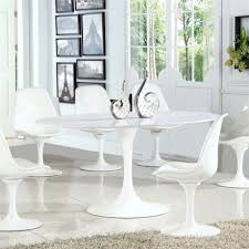 pin it image for edgemod daisy 7 piece 60 oval artificial marble dining set in white