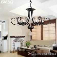 modern glass shade iron chandelier lighting fixtures luminaria re ceiling chandeliers e14 light for bedroom living room lamp red chandelier purple