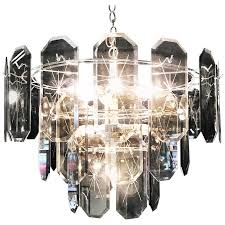 20th century two tiered amber crystal chandelier for