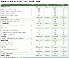 Remodel Estimating Spreadsheet Renovation Estimate Sheet Home Remodel Project Plan Template Fresh