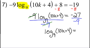 logarithmic equations example 2
