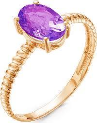 <b>Кольцо с 1 аметистом</b> из красного золота (арт. ж-8368к ...