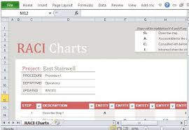 Raci Chart Template Excel Free Raci Chart Template For Excel Download