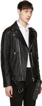 acne studios black nate leather jacket men acne studios sandals classic fashion trend