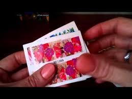 Водные <b>наклейки для ногтей</b> с AliExpress - YouTube