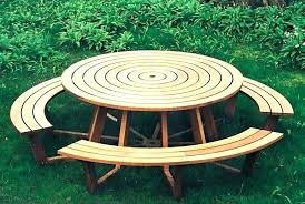round picnic table round table kits round picnic table s benches for kits kit home round picnic table
