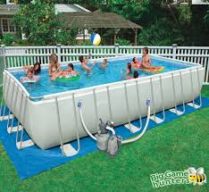 cozy big game hunter swimming pool with intex ultra frame pool and sand filter pump
