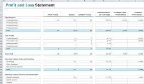 Profit Loss Template Excel P L Statement Excel Magdalene Project Org