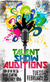 Art Show Flyer Template Promo Poster For Talent Show On Behance