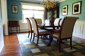 wainscoting dining room. Raised Panel Dining Room Image With An Aqua Painted Wall And A Mahogany Table Wainscoting D