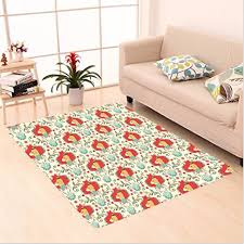 nalahome custom carpet imal cute puppies dog pattern with chevron clic victorian effects design cream red