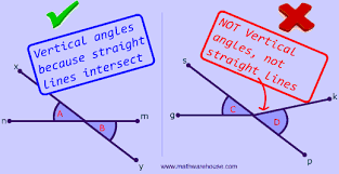 Vertical Angles: Definition, illustrated examples, and an interactive  practice quiz