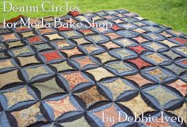 Denim Circles Quilt Â« Moda Bake Shop & cover Adamdwight.com