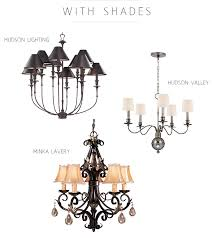 hudson valley and minka lavery chandeliers with shades
