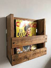 office racks for walls. rustic magazine rack wall mounted holder wood storage office racks for walls
