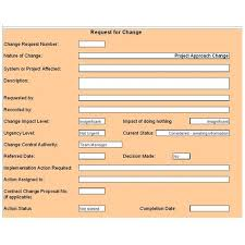 Change Management Template Free