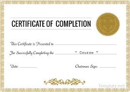 free certificate of completion template printable doc file certification templates course completion