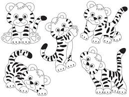 baby tiger clipart black and white. Delighful Tiger ITEM Tiger Clipart  Vector Tigers Clipart Clip Art In Baby Black And White