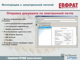 Презентация на тему cognitive technologies Регистрация  22 Отправка документа по электронной почте Выбор информации
