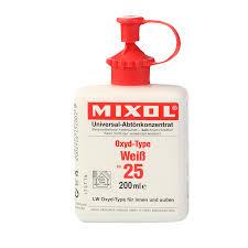 Mixol Tint Color Chart Mixol White 25