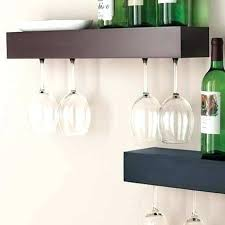wine glass shelves entertaining hanging cabinet wall mount wa