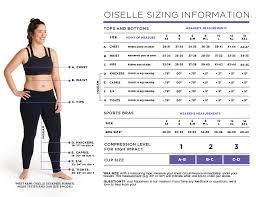 Size Chart Oiselle Running Apparel For Women