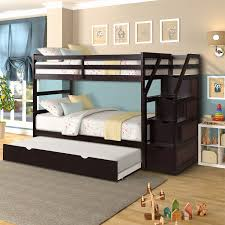 Bunk Beds Designs Free Bunk Beds For Kids Twin Over Trundle Bunk Bed With 4 Storage Drawers Espresso