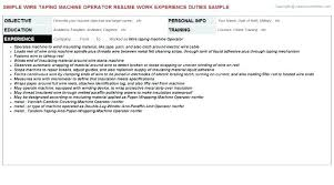 Sample Machine Operator Resume Machine Operator Resume Production ...