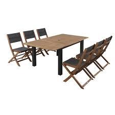 Ensemble table et chaise exterieur en aluminium - Achat / Vente pas cher