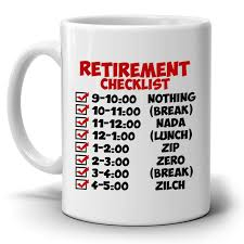 checklist template sles amazon funny retirement gift coffee mug perfect travel for holiday
