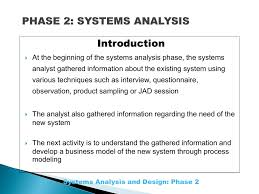 Systems Analysis Design 10th Edition Phase 2 Systems Analysis