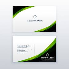Green Card Template Green And Black Business Card Template Vector Free Download
