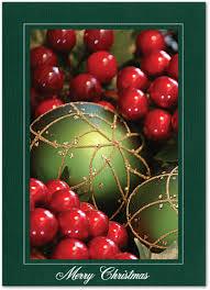 Pine Linen Merry Christmas Vertical Single 1 Card