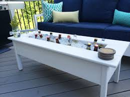 Beer Cooler Coffee Table Triyaecom Backyard Table With Cooler Various Design