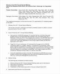 Template For Corporate Minutes Elegant How To Write