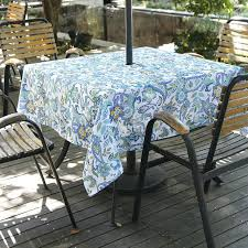 for outdoor tablecloth with umbrella hole canada