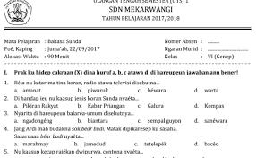 Soal uhph utspts ukkpat bahasa indonesia kelas 7. Revisi Guru Id Contoh Soal Uas Bahasa Sunda Kelas 10 Dan Kunci Jawaban Revisi 2021