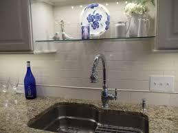glass shelf above kitchen sink ideas