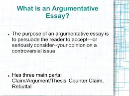purpose of persuasive essay sample persuasive essay for th graders  the argumentative essay introducing argument the counterclaim what is an argumentative essay