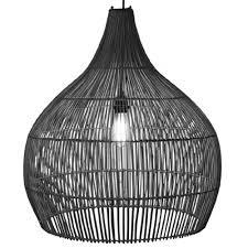 Hanglamp Zwart Rotan Kruik 50cm Rotan Hanglamp Meer Met Sfeer