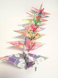Japanese Origami Cranes Origami Crane Ornaments Store Window