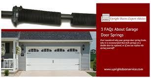 faqs about garage door springs