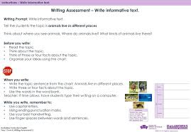 Topic Chart For Writing Writing Assessment Write Informative Text Ppt Download