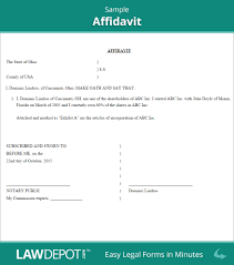 General Affidavit Sample General Affidavit Template Frequently Asked Questions Faq Sample 5