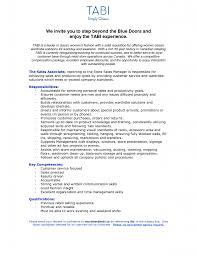 Sales Associate Job Description Resume Retail Sales Associate Job Duties For Resume Templates 82