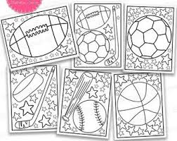 No matter your child's favorite sport, there is a sports coloring page for him. Sports Coloring Page Etsy
