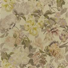 Small Picture Designers Guild Delft Flower Wallpaper in Gold