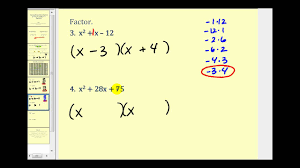 factoring a trinomial with leading coefficient of 1 the basics you